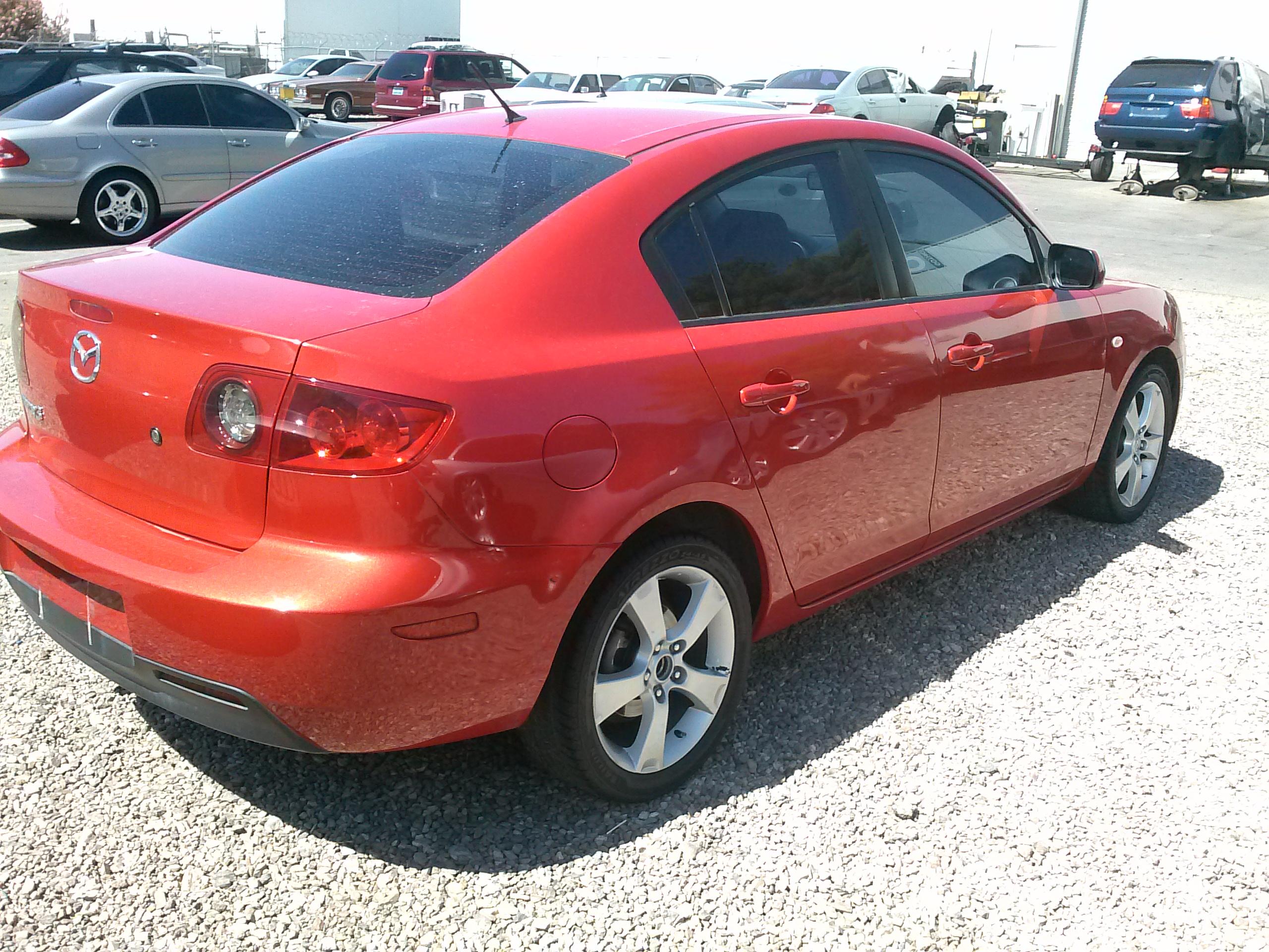 2003 Mazda 3 Red 4 Door Sedan Autotext Com